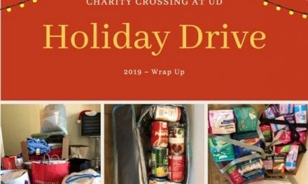 Charity Crossing at UD Holiday Drive Wrap Up