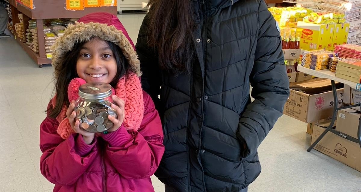 Thank you girls for supporting Penny Drive