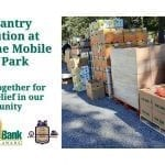 Food Pantry Distribution at Timberlane Mobile Home Park