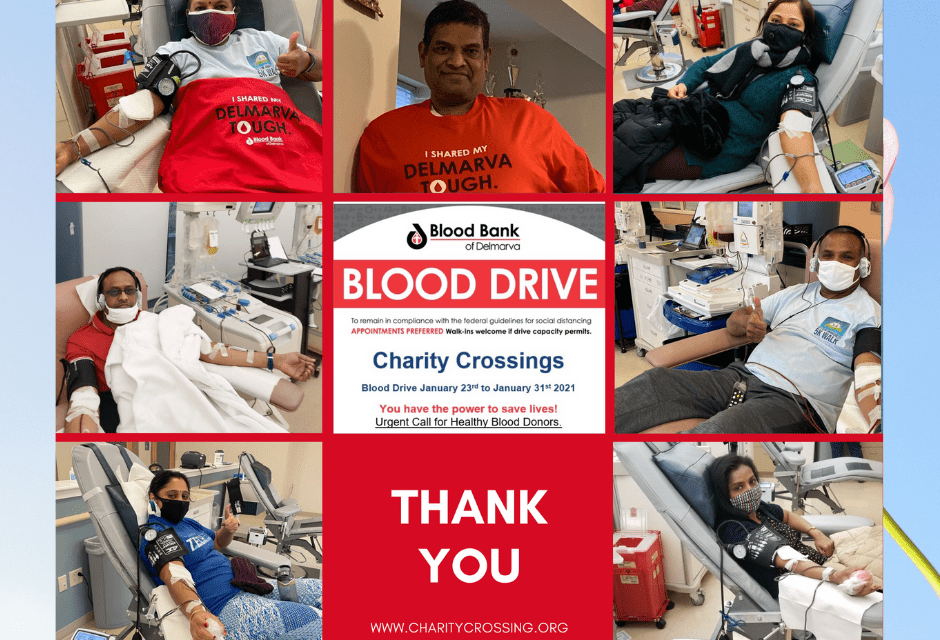 Thank you for donating blood