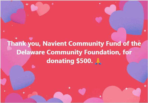Thank you, Navient Community Fund